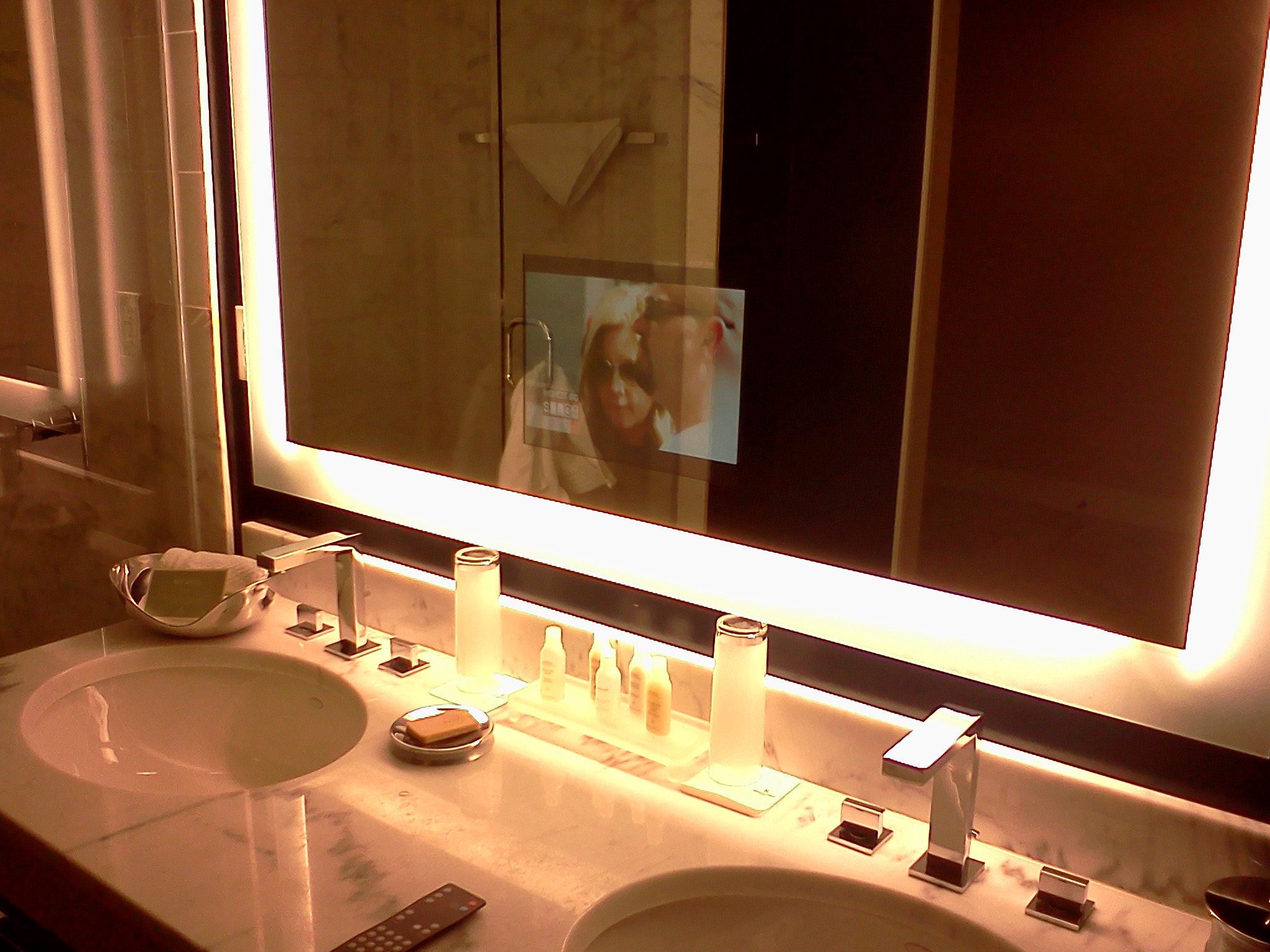 Tv for television in mirror for bathroom yes for Tv in bathroom ideas