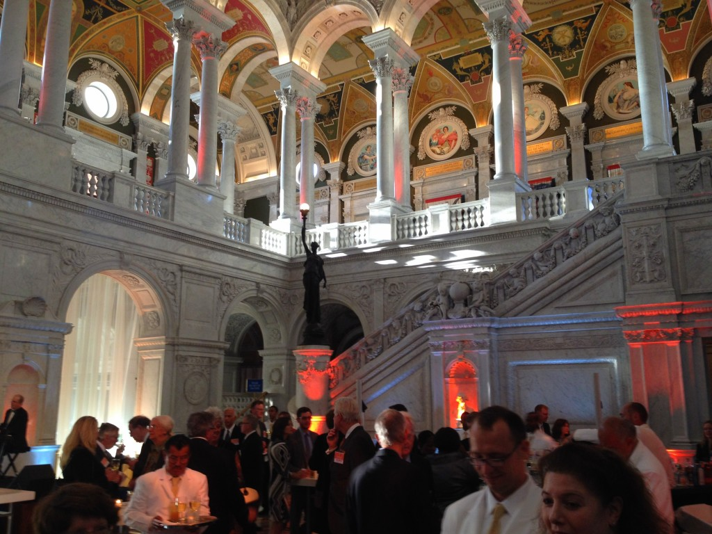 Reception at the Library of Congress.