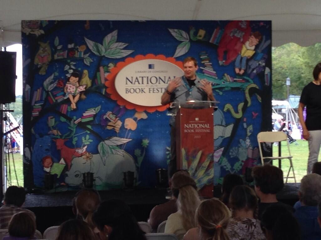 Speaking at the National Book Festival