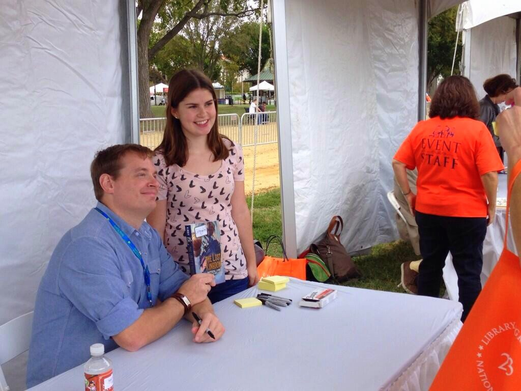 Signing at the National Book Festival